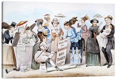 Cartoon: Women's Rights Canvas Art Print