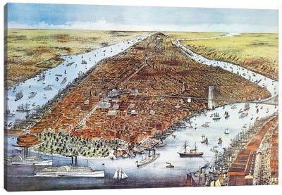 City of New York, 1876  Canvas Art Print