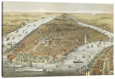 The City of New York, 1876  Canvas Art Print