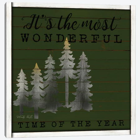 It's the Most Wonderful Time Canvas Print #CJA107} by Cindy Jacobs Canvas Print