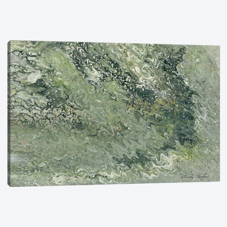 Abstract in Seafoam I Canvas Print #CJA10} by Cindy Jacobs Art Print