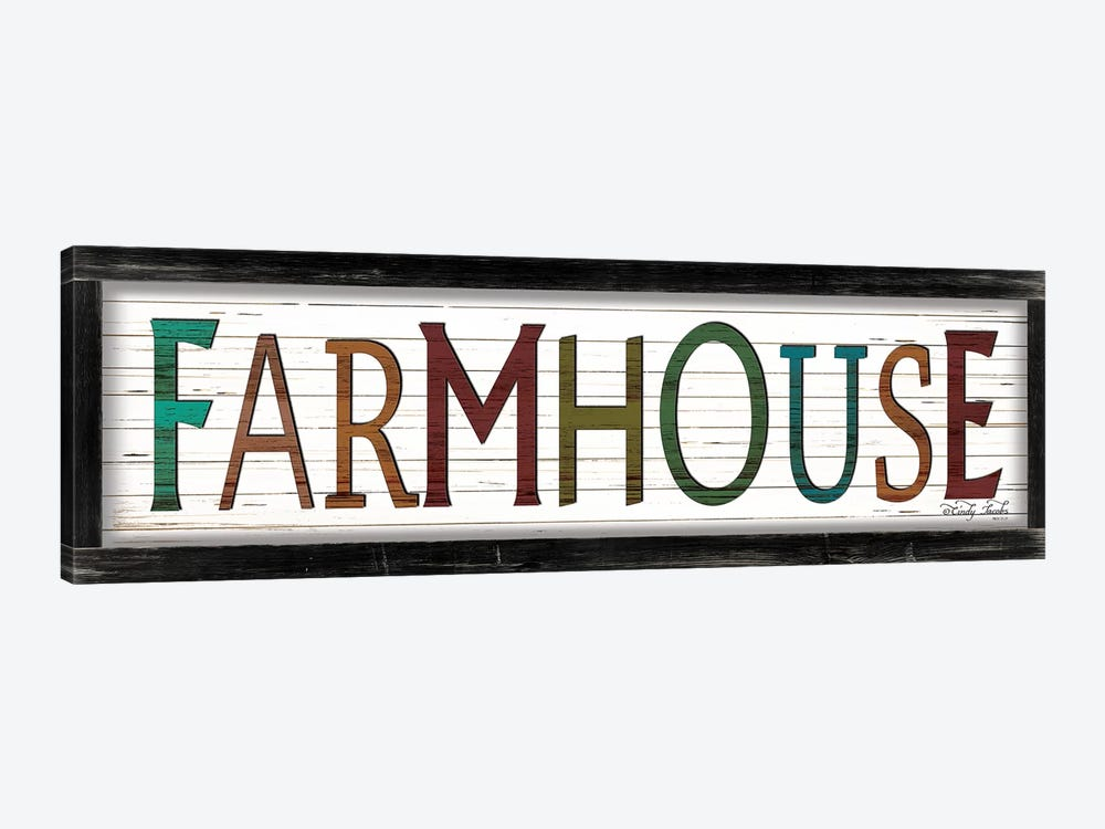 Colorful Farmhouse by Cindy Jacobs 1-piece Art Print