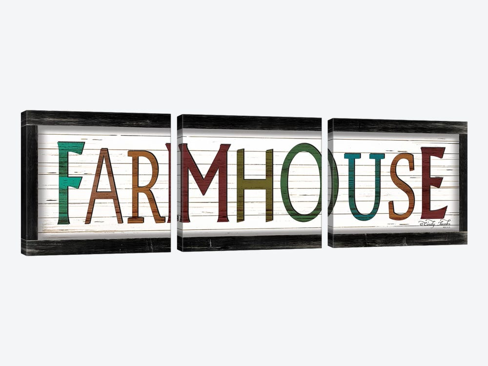Colorful Farmhouse by Cindy Jacobs 3-piece Art Print