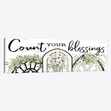 Count Your Blessings 3-Piece Canvas #CJA121} by Cindy Jacobs Canvas Artwork