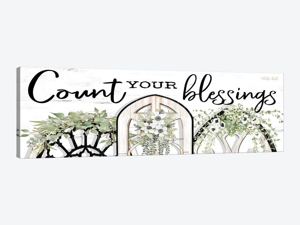 Count Your Blessings by Cindy Jacobs 1-piece Canvas Art