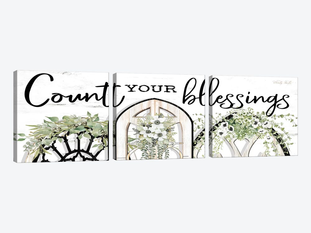Count Your Blessings by Cindy Jacobs 3-piece Canvas Art