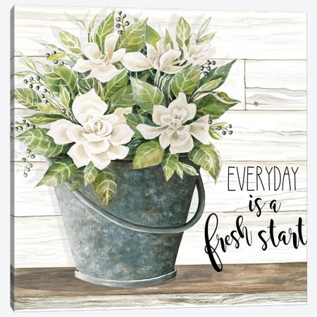 Everyday is a Fresh Start Canvas Print #CJA124} by Cindy Jacobs Canvas Print