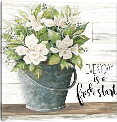 Everyday is a Fresh Start Canvas Art Print