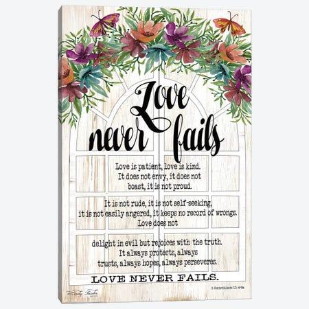 Floral Love Never Fails Canvas Print #CJA127} by Cindy Jacobs Canvas Print