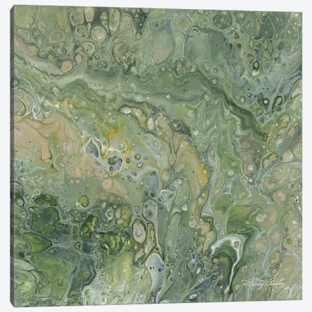 Abstract in Seafoam III Canvas Print #CJA12} by Cindy Jacobs Canvas Print