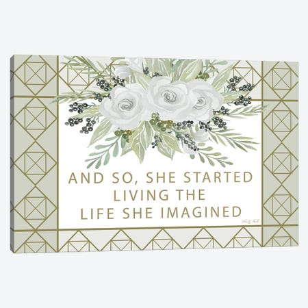 Living the Life She Imagined Canvas Print #CJA144} by Cindy Jacobs Art Print