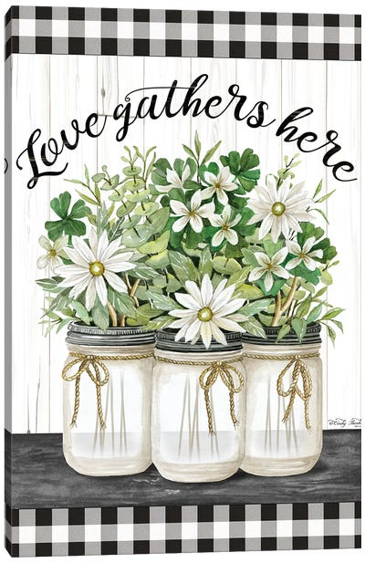 Love Gathers Here Canvas Art Print