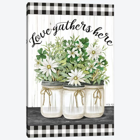 Love Gathers Here Canvas Print #CJA148} by Cindy Jacobs Canvas Wall Art