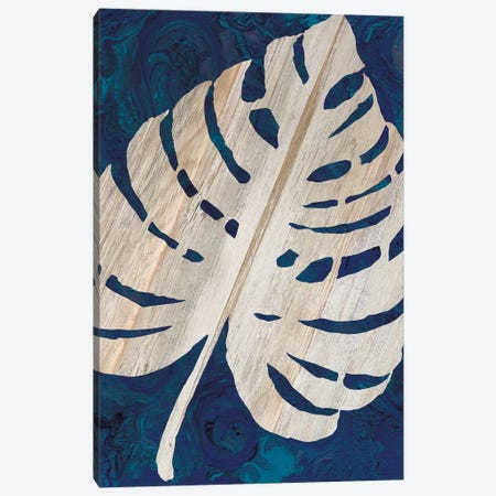 Monstera Navy Canvas Print #CJA154} by Cindy Jacobs Canvas Art