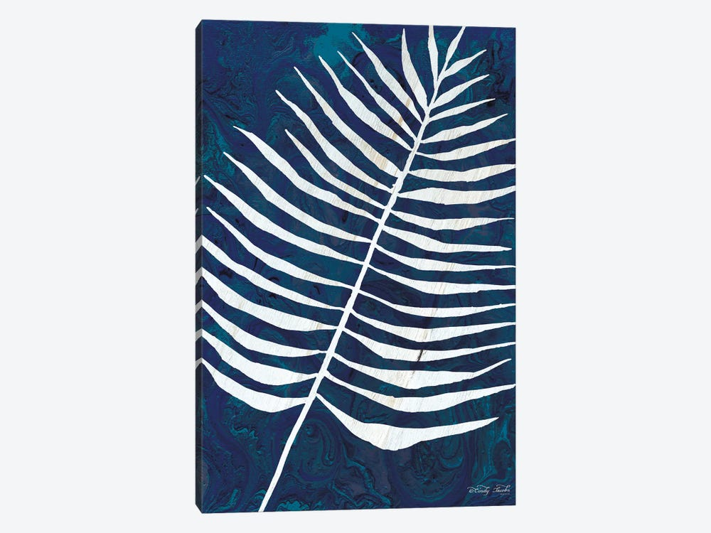 Navy Areca Leaf by Cindy Jacobs 1-piece Canvas Print