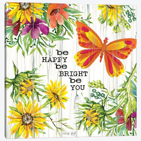 Be Happy Canvas Print #CJA15} by Cindy Jacobs Canvas Artwork