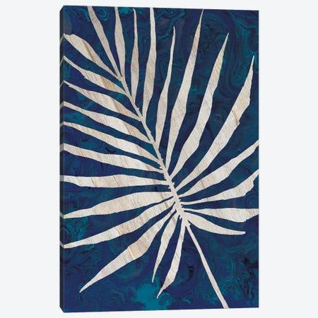 Palm Leaf Navy 3-Piece Canvas #CJA162} by Cindy Jacobs Canvas Art