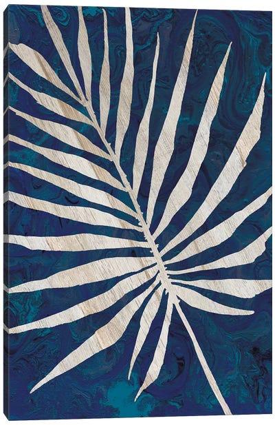 Palm Leaf Navy Canvas Art Print