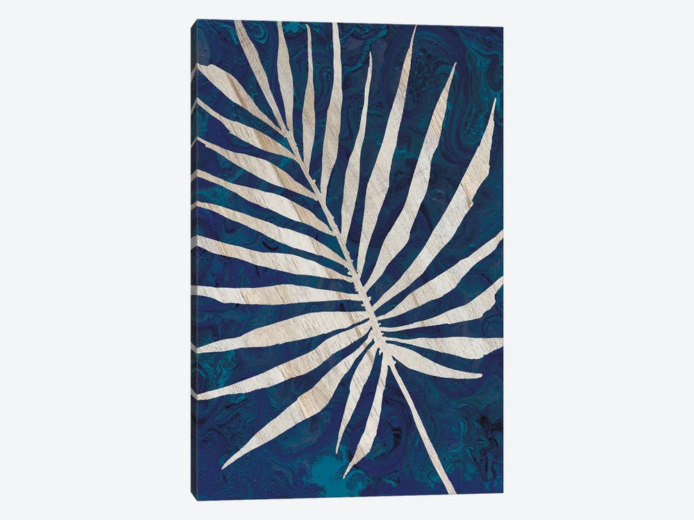 Palm Leaf Navy by Cindy Jacobs 1-piece Canvas Art Print