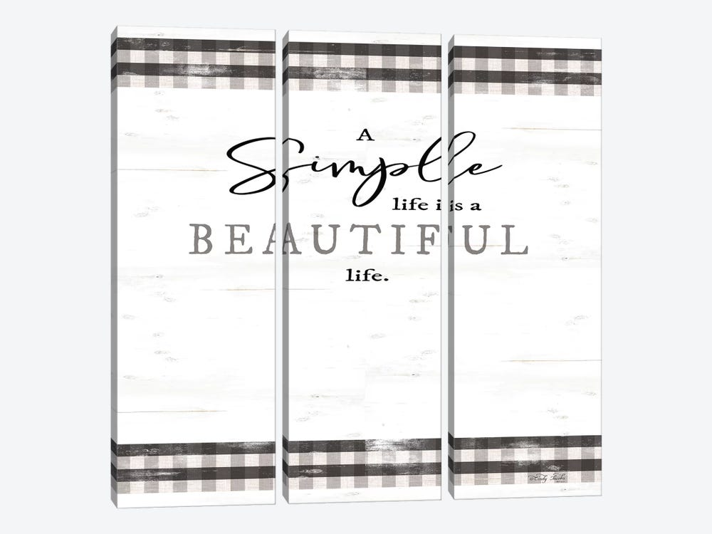 Simple & Beautiful Life by Cindy Jacobs 3-piece Art Print