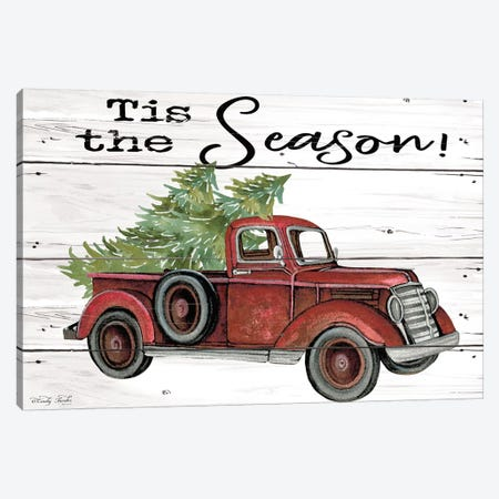 Tis the Season Red Truck Canvas Print #CJA165} by Cindy Jacobs Canvas Art Print