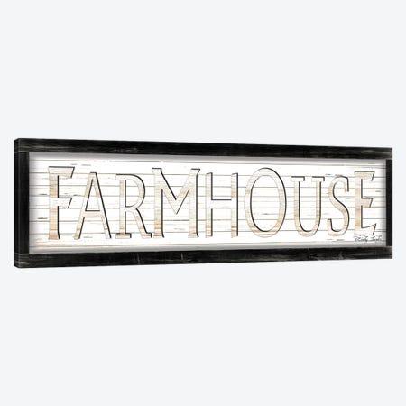 White Farmhouse Canvas Print #CJA167} by Cindy Jacobs Art Print