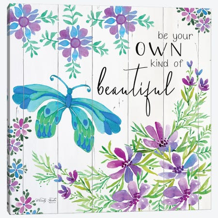 Be Your Own Kind of Beautiful Canvas Print #CJA16} by Cindy Jacobs Canvas Wall Art