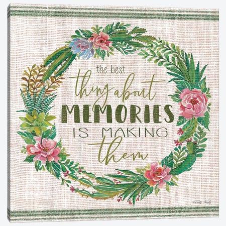 Making Memories Succulent Wreath Canvas Print #CJA175} by Cindy Jacobs Canvas Art