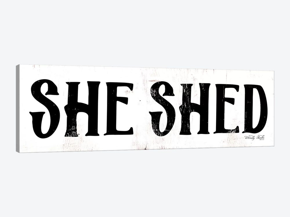 She Shed by Cindy Jacobs 1-piece Art Print