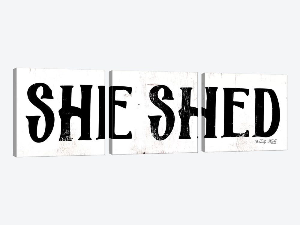 She Shed by Cindy Jacobs 3-piece Art Print