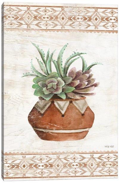 Southwest Terracotta Succulents II Canvas Art Print