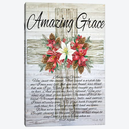 Amazing Grace Christmas Cross Canvas Print #CJA181} by Cindy Jacobs Canvas Artwork