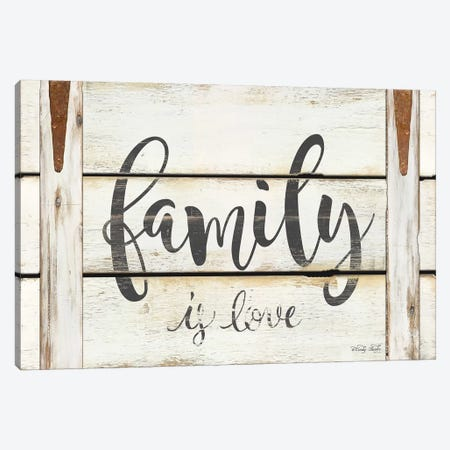 Family Is Love Canvas Print #CJA187} by Cindy Jacobs Canvas Art Print