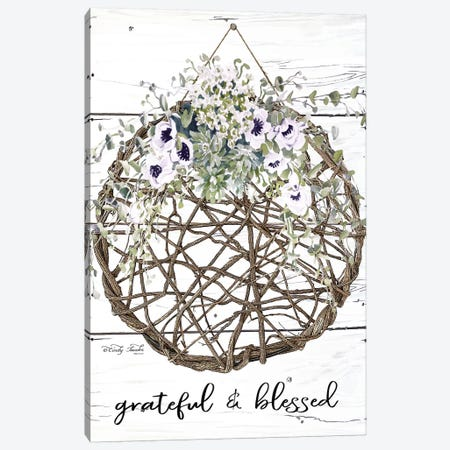 Grateful & Blessed Canvas Print #CJA189} by Cindy Jacobs Canvas Art