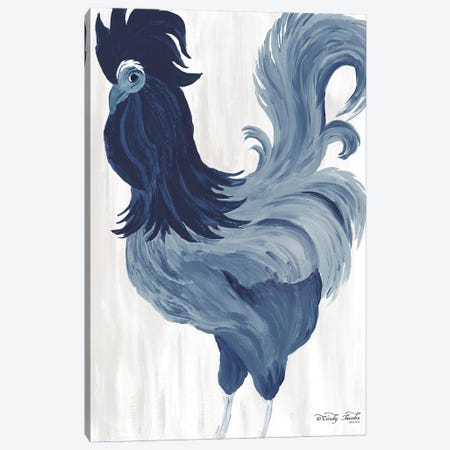 Green & Purple Rooster II Canvas Print #CJA191} by Cindy Jacobs Art Print