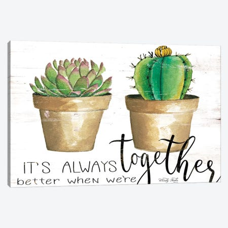 It's Always Better Together 3-Piece Canvas #CJA193} by Cindy Jacobs Canvas Art Print