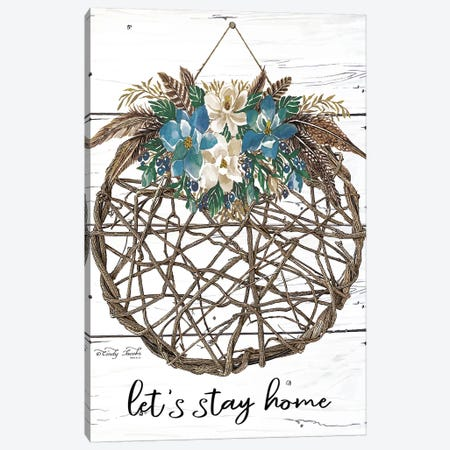 Let's Stay Home Canvas Print #CJA197} by Cindy Jacobs Canvas Art