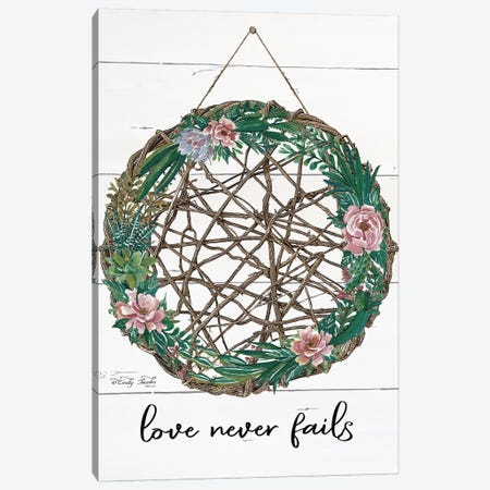 Love Never Fails Canvas Print #CJA198} by Cindy Jacobs Art Print