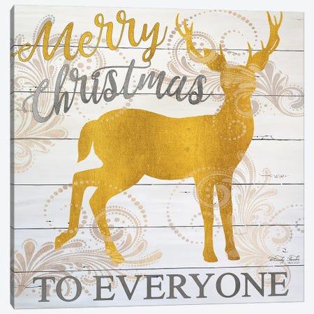 Merry Christmas Deer Canvas Print #CJA202} by Cindy Jacobs Art Print