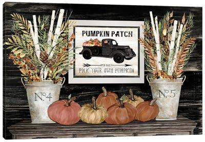 Pumpkin Patch Still Life Canvas Art Print