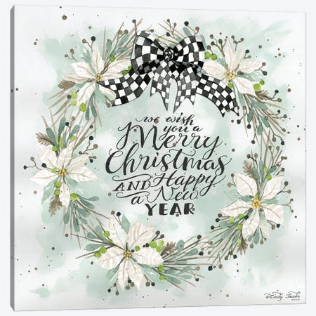 We Wish You A Merry Christmas Canvas Print #CJA208} by Cindy Jacobs Canvas Art Print