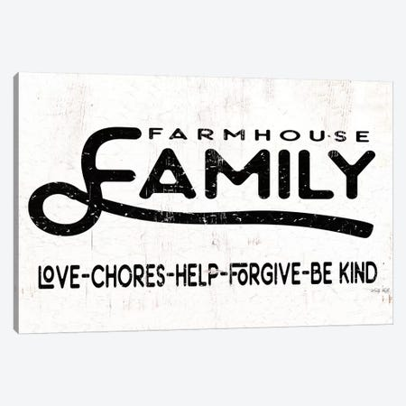 Farmhouse Family       Canvas Print #CJA220} by Cindy Jacobs Art Print