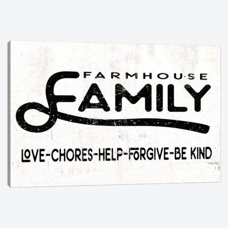 Farmhouse Family       Canvas Print #CJA220} by Cindy Jacobs Art Print