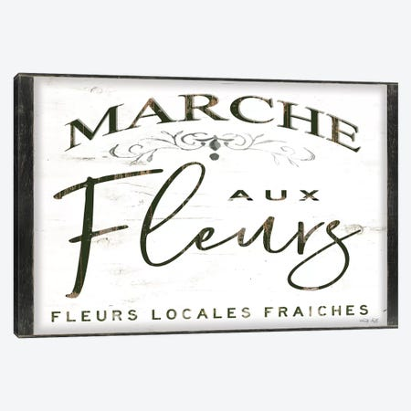 Fleurs Sign I 3-Piece Canvas #CJA221} by Cindy Jacobs Canvas Art Print