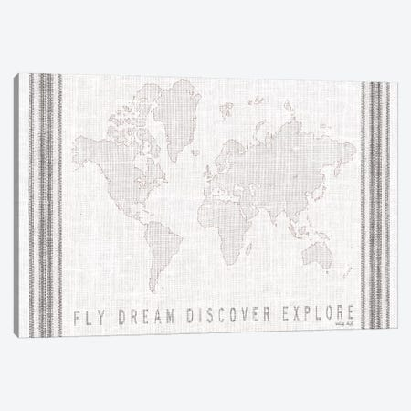 Fly, Dream, Discover, Explore Map     Canvas Print #CJA223} by Cindy Jacobs Canvas Print