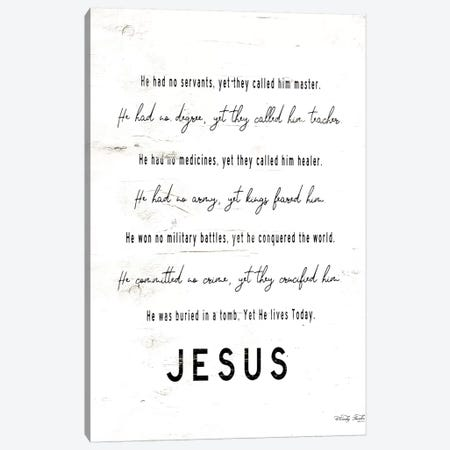 Jesus       Canvas Print #CJA224} by Cindy Jacobs Canvas Art