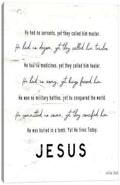 Jesus       Canvas Art Print
