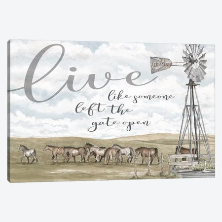 Live Like Someone…   Canvas Print #CJA228} by Cindy Jacobs Art Print