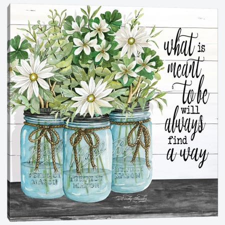 Blue Jars - What is Meant to Be Canvas Print #CJA22} by Cindy Jacobs Canvas Wall Art