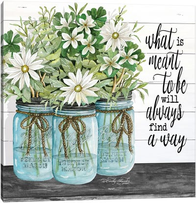 Blue Jars - What is Meant to Be Canvas Art Print